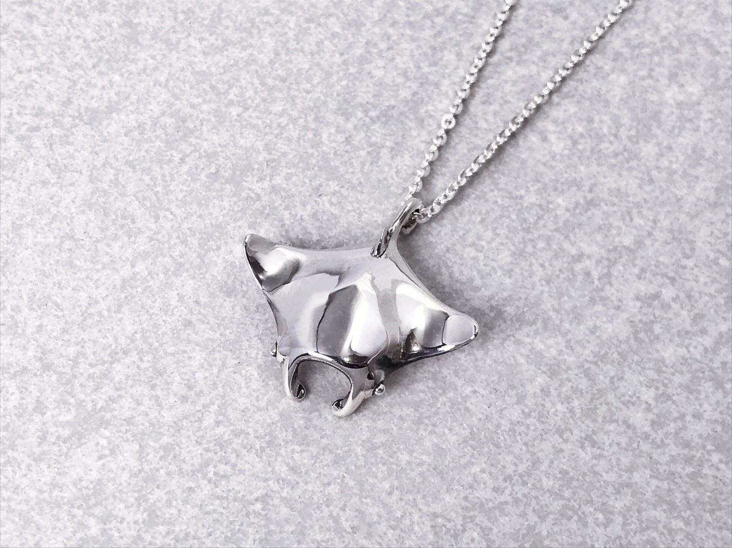 魟魚-純銀項鍊
