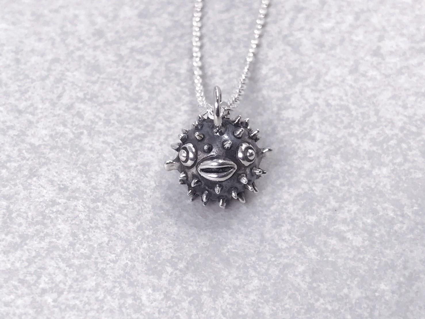 河豚-純銀項鍊