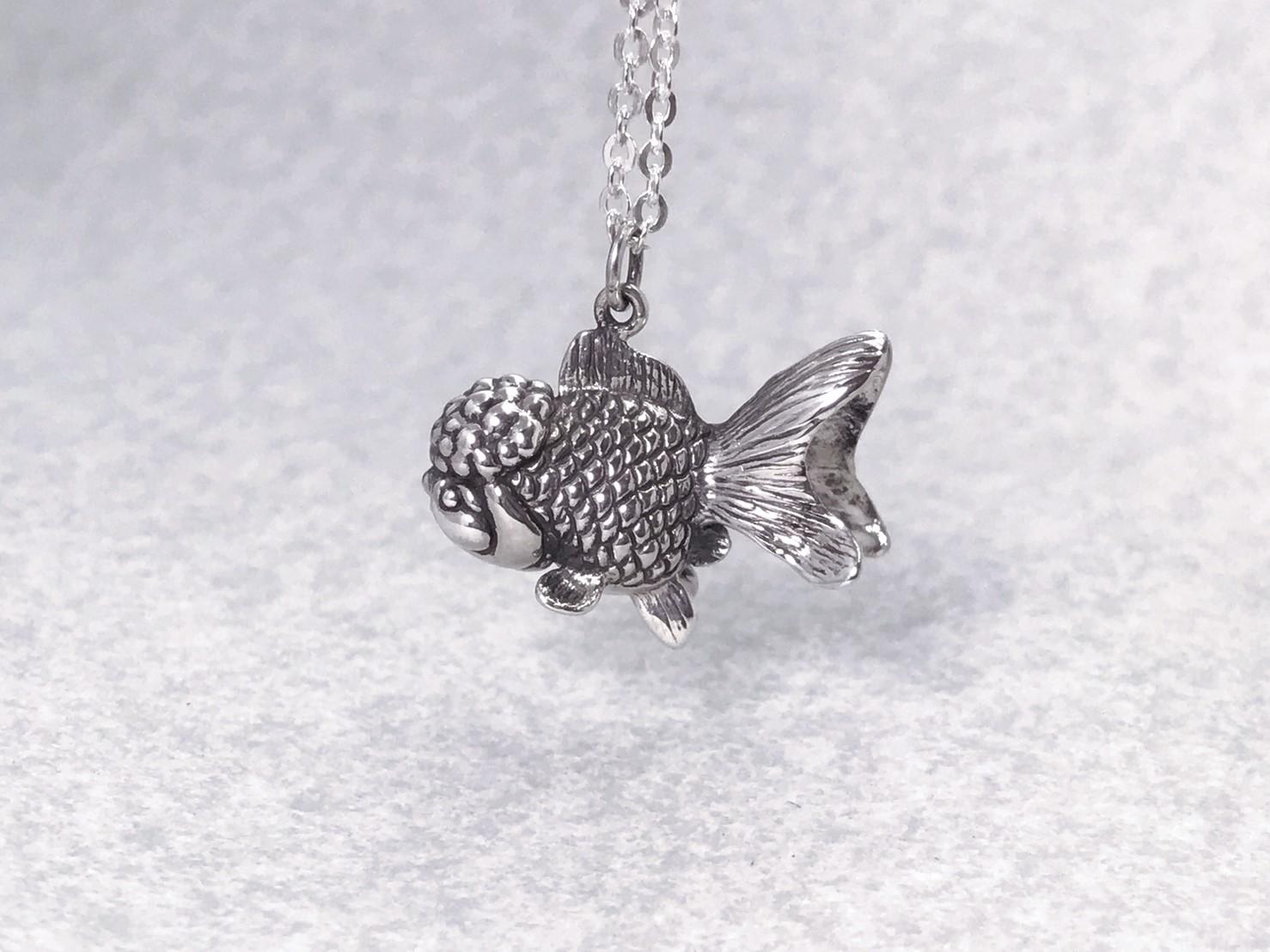 獅頭金魚-純銀項鍊