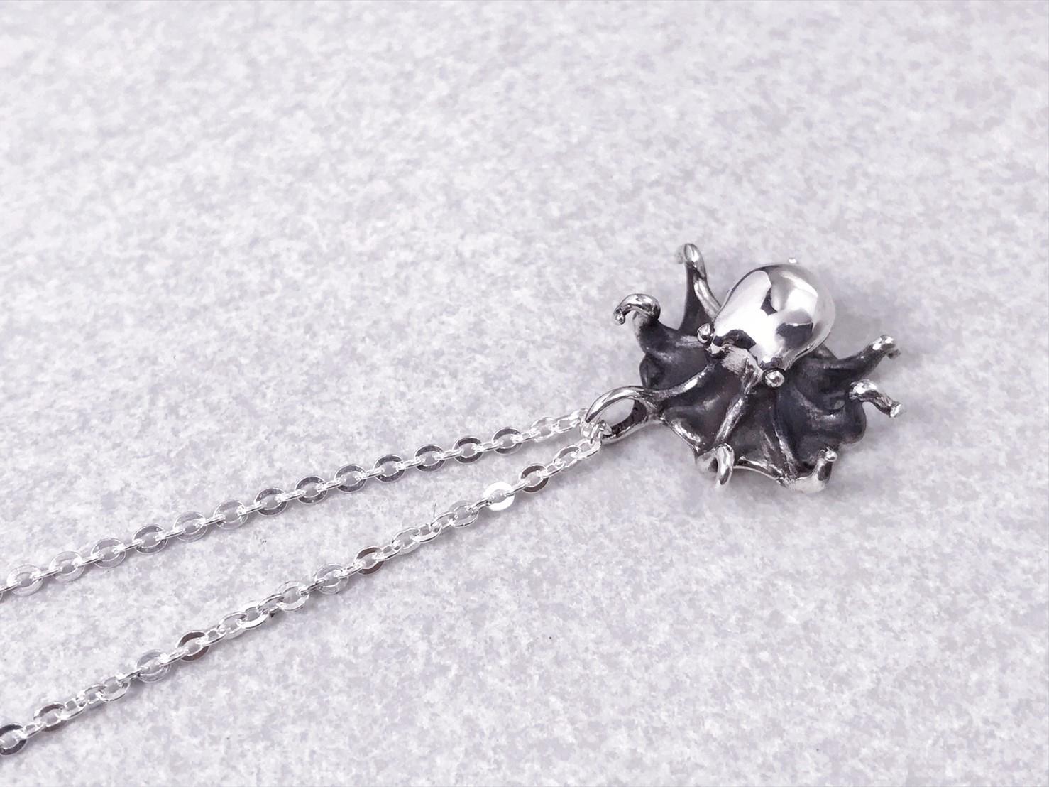 小章魚-純銀項鍊