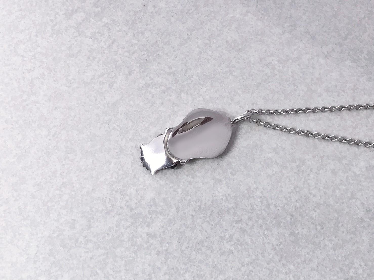 軟絲-純銀項鍊