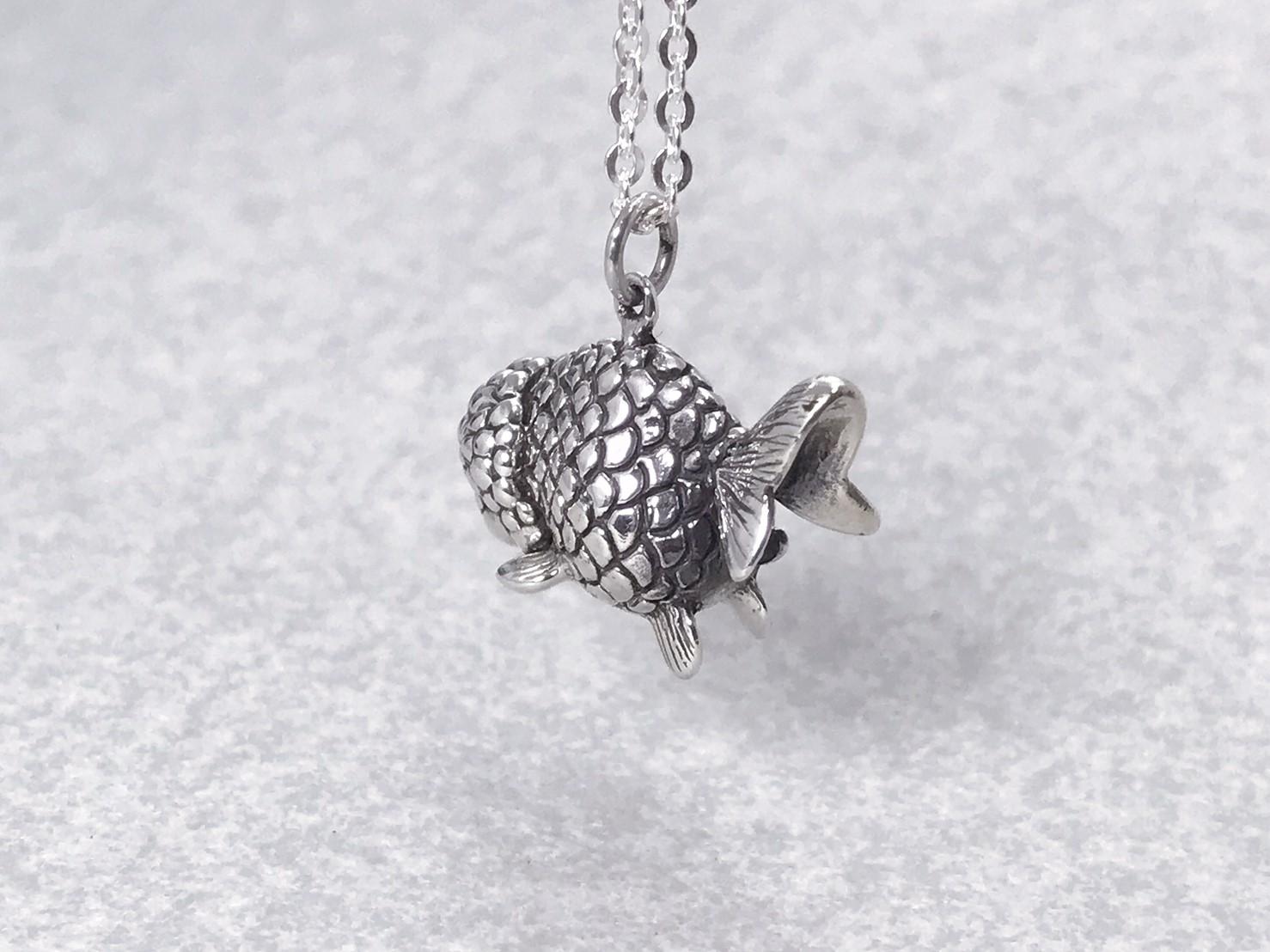 蘭壽金魚-純銀項鍊