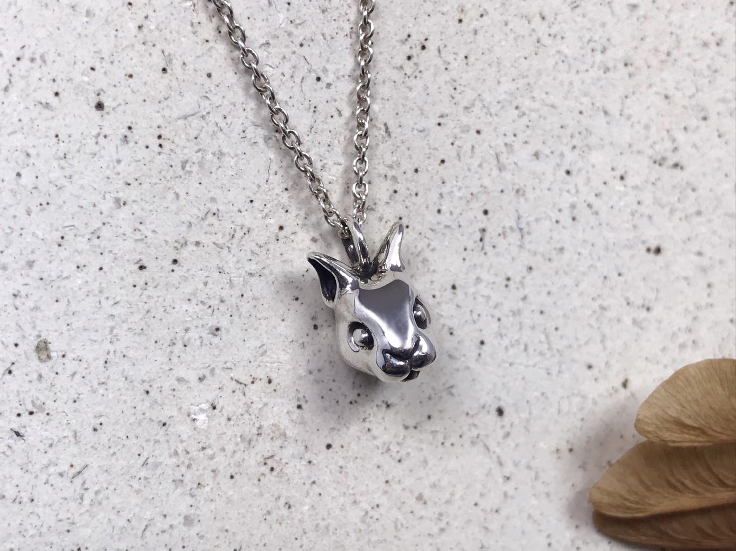 兔子-純銀項鍊