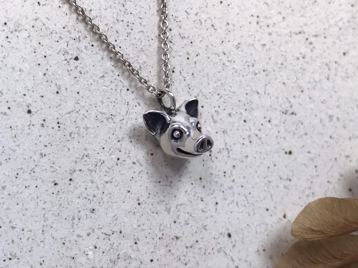小豬-純銀項鍊