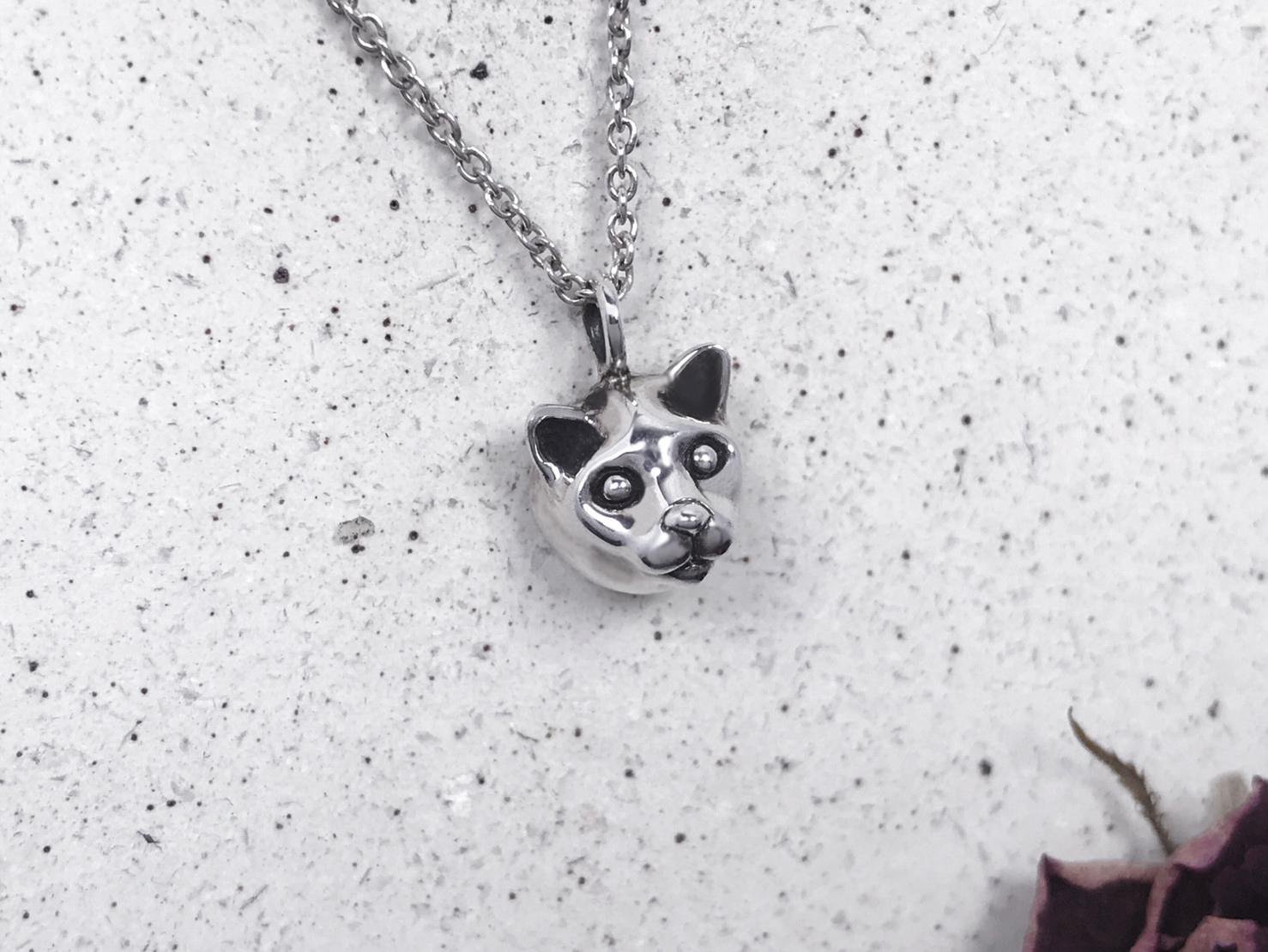 貓咪-純銀項鍊