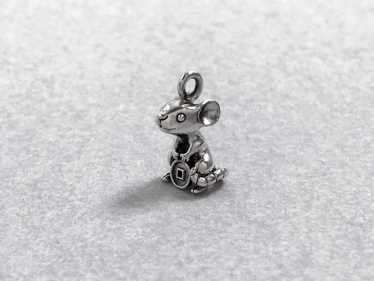 小錢鼠-純銀項鍊