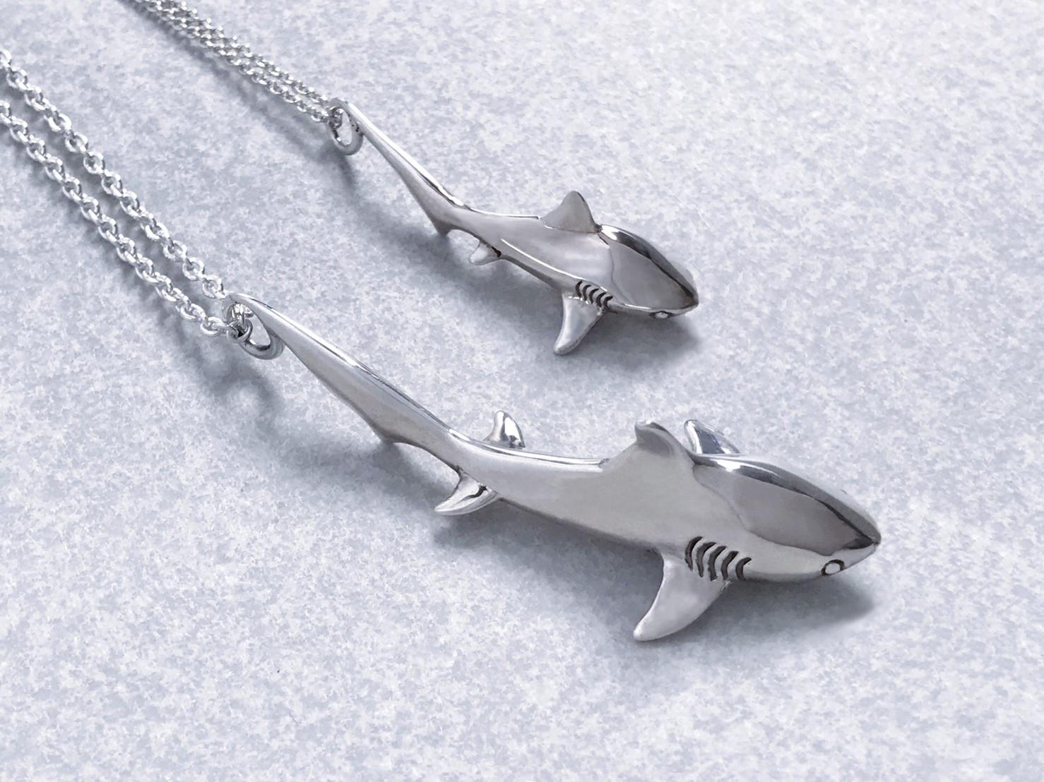 大鯊魚-純銀項鍊