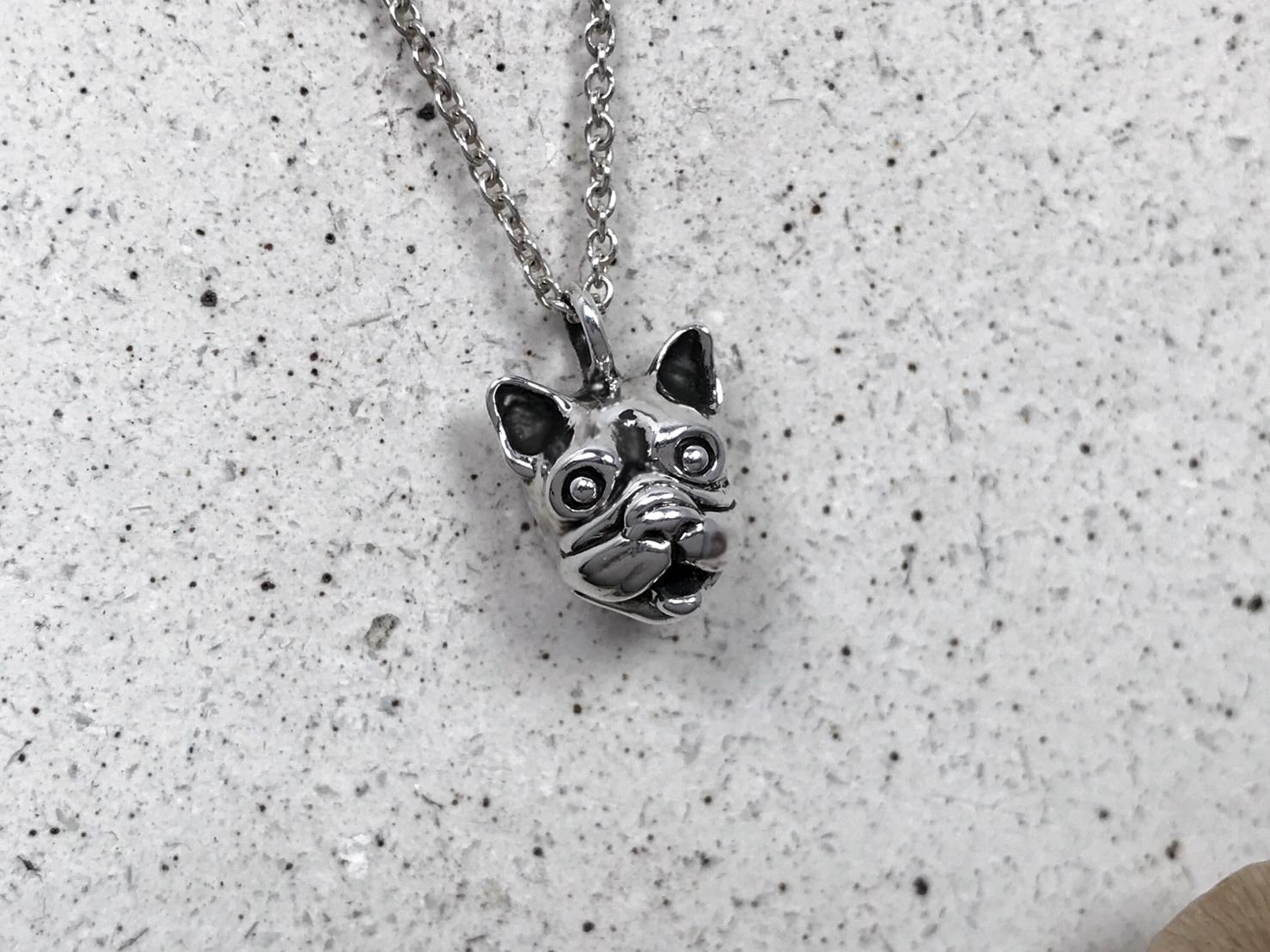 鬥牛犬-純銀項鍊