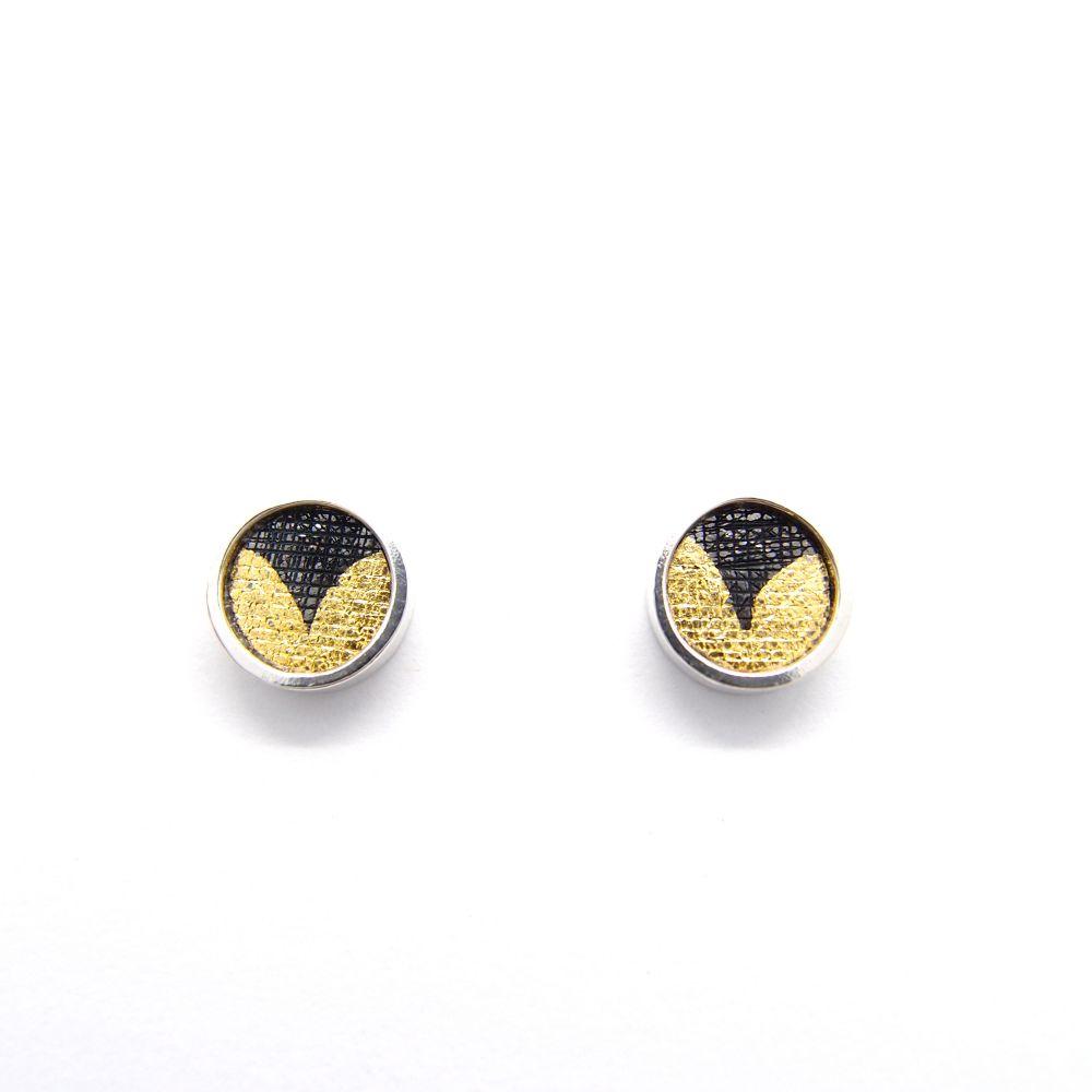 耳上一公分  圓B   925銀耳環