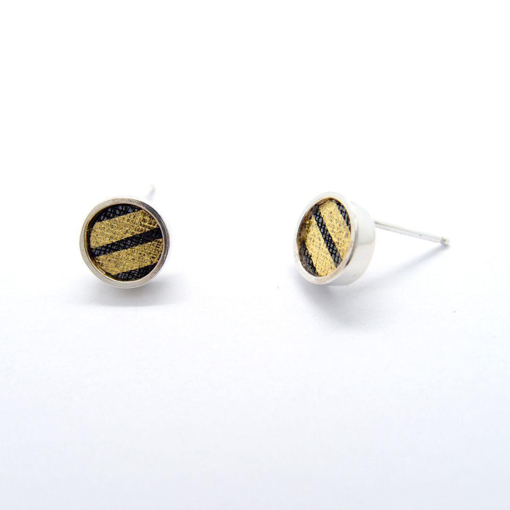 耳上一公分 圓C 925銀耳環