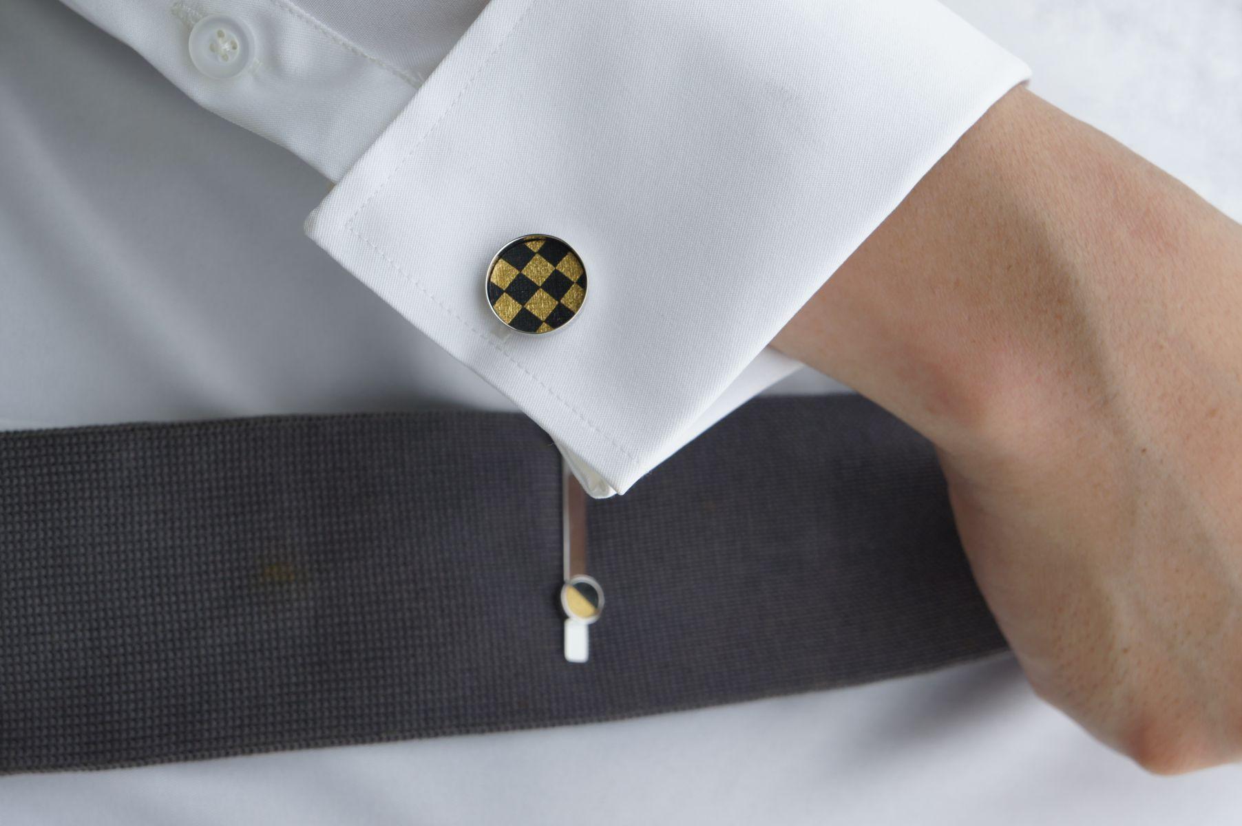 幾何風景袖扣1