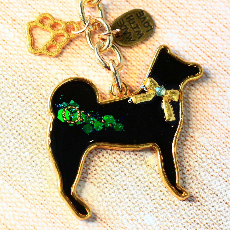 Molla 汪汪寶貝小黑狗吊飾(女生最愛手作吊飾、鑰匙圈、手機吊飾)