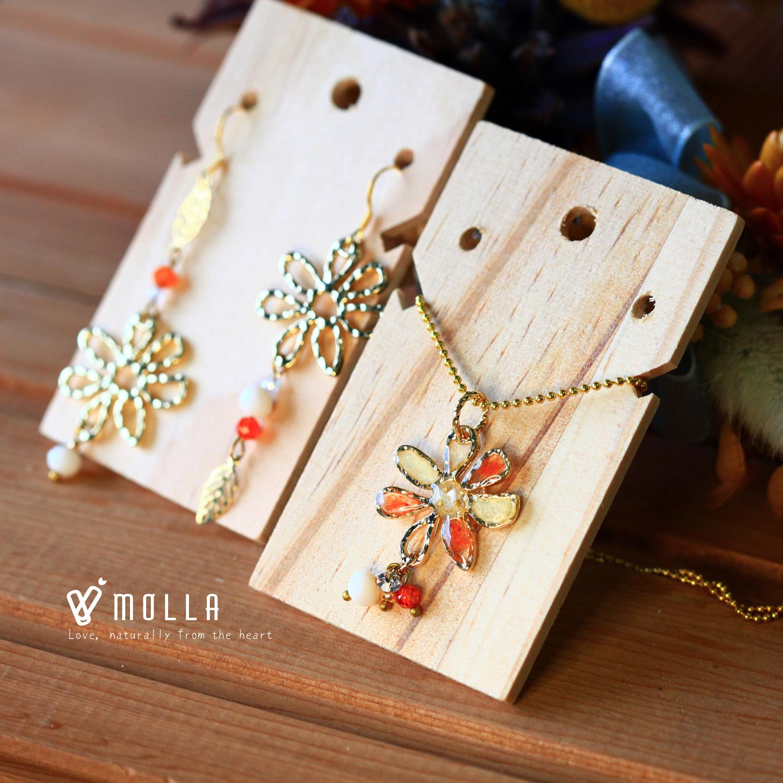 Molla 秋日的密秘小花園-橘花耳環